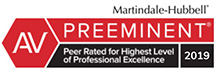 Martindale-Hubbell AV Preeminent Lawyer - Peer Rated for Highest Level of Excellence 2019 - Steve Geller